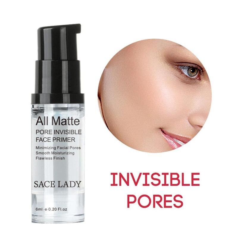 SACE LADY Face Base Primer Cream Liquid Matte Fine Lines kontrola oleju krem do twarzy rozjaśniający podkład podkładowy makijaż kosmetyczny 1