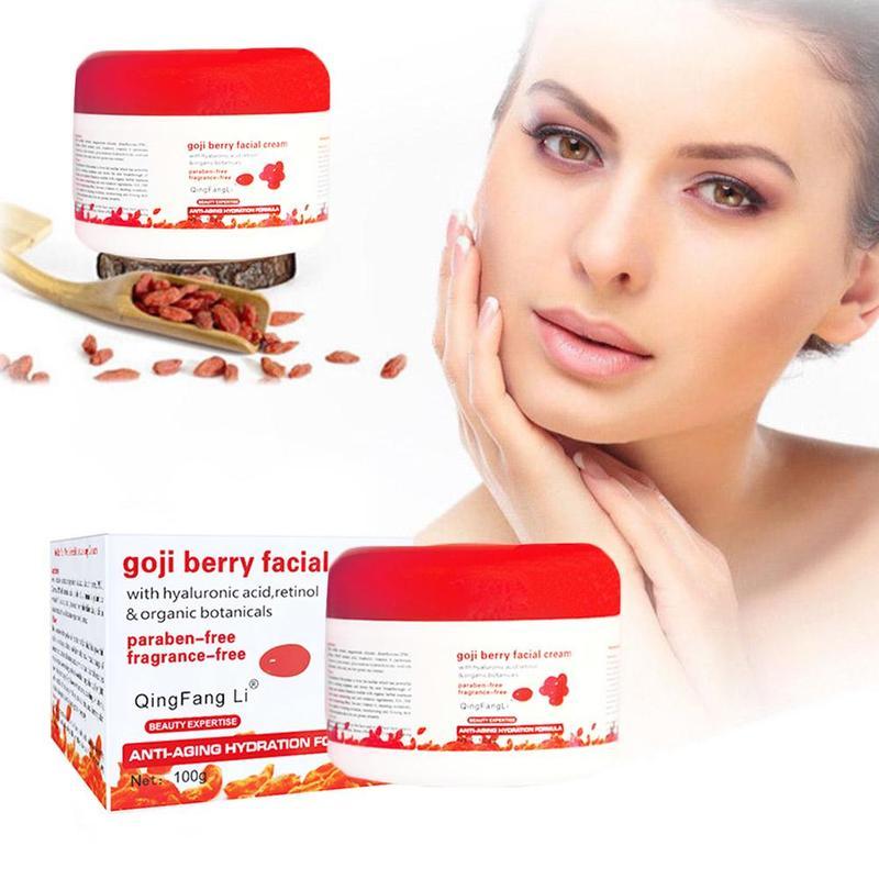 Goji Face Cream Women Moisturizing Whitening Vitamin E Facial Cream Anti Aging Reduce Wrinkles Friming Skin Care 100ml