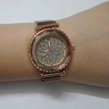 Lüks kadın saatler moda manyetik kadın saat kuvars kol saati bayanlar elbise kol saati Reloj Mujer Relogio Feminino