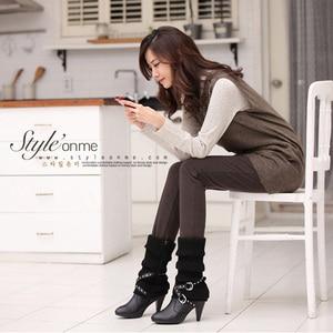 Image 2 - Plus Size S 4XL Women Pencil Pants high waist Skinny Black Thick Velvet Warm Winter Leggings Jeggings  Legins Feminina Trousers