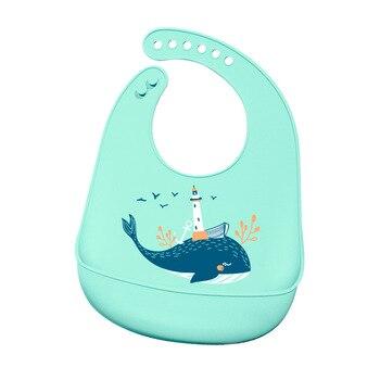 12 Colors New Design Baby Bibs Waterproof Silicone Feeding Saliva Towel Newborn Cartoon Aprons