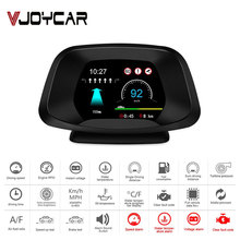 Head-Up-Display Speedometer Computer Car-Navigator Hud Obd2 New GPS with Rpm-Oil Water-Temp.