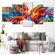 Абстрактная живопись красная пара символов декоративная картина