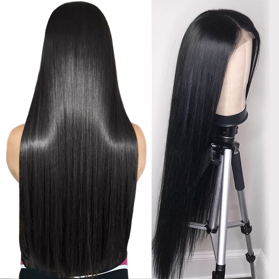 Luxediva Beautiful13x4 Lace Front Human Hair Wigs Pre Plucked Hair Line Brazilian Remy Silky Straight Lace Wig With Baby Hair