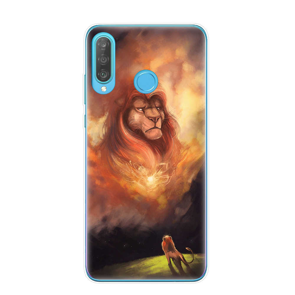 Hoạt Hình Vua Sư Tử nala Simba timon Ốp Điện Thoại cho Huawei P30 P20 Giao Phối 20 Lite Pro P8 P9 P10 Lite 2017 Bao Coque Etui fundas