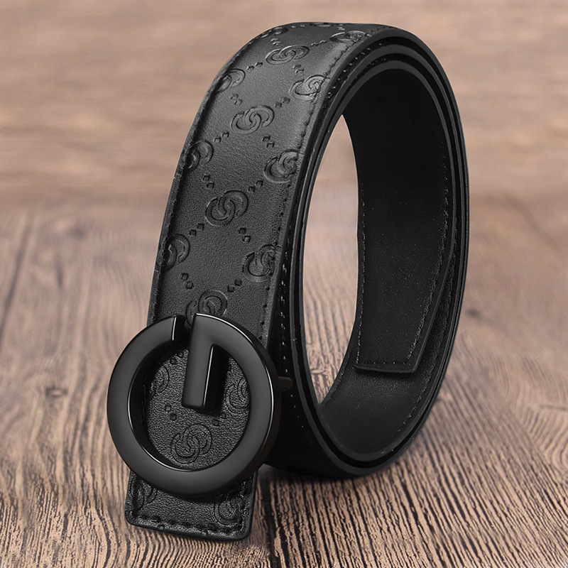 G Buckle Men Belt Cow Genuine Leather Designer Belts For Men High Quality Fashion Vintage Male Strap For Jaens Cow Skin
