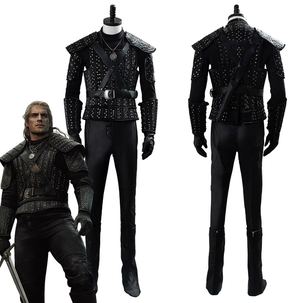 Cavill Cosplay Costume Full Set Adult Men Women Halloween Carnival Party Cosplay Costumes Custom Made