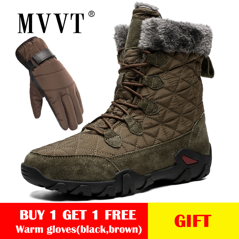 Size 47 Genuine Leather Boots Men Snow Boots Outdoor Super Warm Winter Men Boots Waterproof Keep Warm Botas Hombre