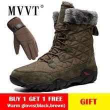 Size 47 Genuine Leather Boots Men Snow Outdoor Super Warm Winter boots Waterproof Keep botas hombre