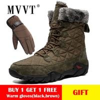 Size 47 Genuine Leather Boots Men Snow Boots Outdoor Super Warm Winter Men boots Waterproof Keep Warm botas hombre