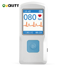 Contec Ecg Ekg Machine Draagbare Hartslagmeter Elektrocardiograaf Ecg Monitor Handheld Hart Machine Baby Heart Monitor