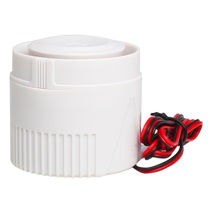 Image 5 - White 120DB DC12V Mini Wired Siren Horn for Wireless Home Alarm Security System Alarm Accessories 59cm Line length