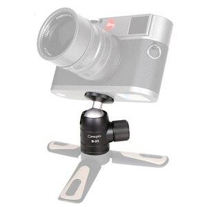 Image 5 - XILETU B 23 מיני חצובה כדור ראש אלומיניום סגסוגת מתכת 360 תואר חצובה כדור ראש פנורמי ראש W 1/4 בורג עבור DSLR GoPro