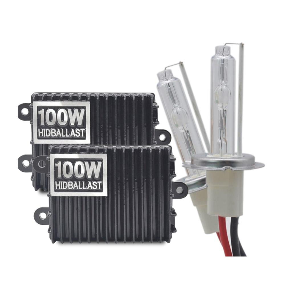 100W kit xénon H1 H4 H7 H3 H11 H8 9005 HB3 9006 HB4 Ballast CACHÉ Kit Xénon Lampe 12V Voiture Phare Ampoule 4300k 5000k 6000k 8000k