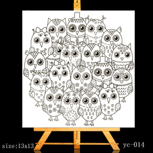 ZhuoAng Owl Eyes Clear Stamps/Card Making Holiday decorations For  scrapbooking Transparent stamps 13*13cm