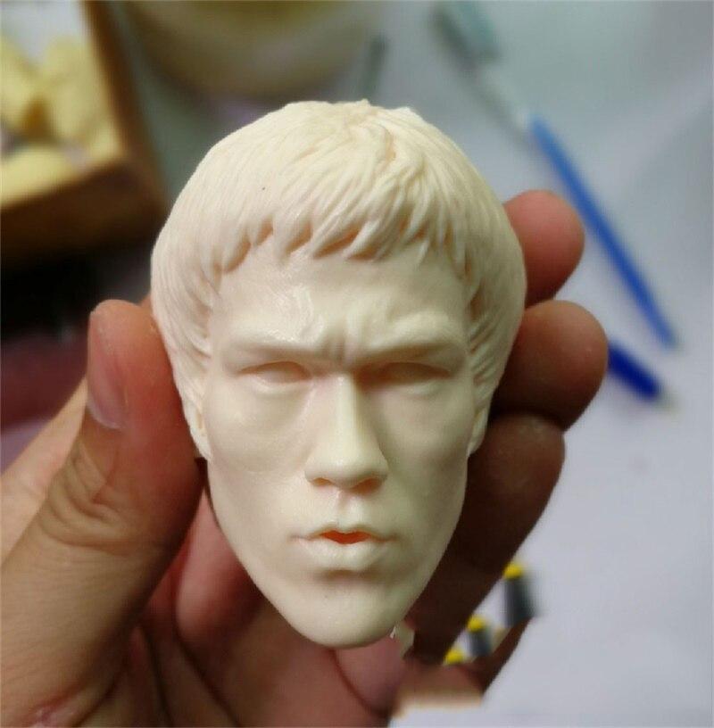 Auf Lager Für Verkauf 1/4 Skala In Speicher Von Bruce Lee Koog Fu Superstar Weiß Farbe Unlackiert Kopf Skulptur Für fans Sammlung