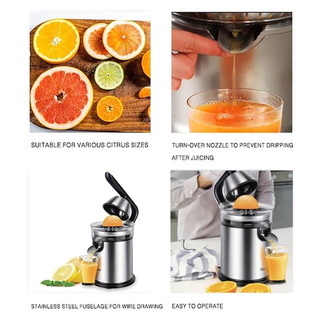 Stainless Steel Orange 300W Lemon Electric Set Juicers Aluminum Die -casting Handle Household Low Power Sonifer 2