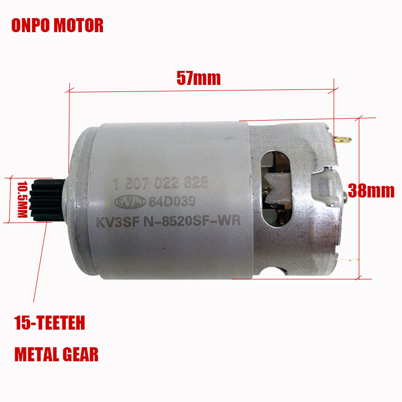 10.8 V 15 teeth DC motor( KV3SFN-8520SF-WR 1607022628)  for BOSCH GSR1080-2-LI 3 601JE2000 /EU electric drill Screwdriver motor