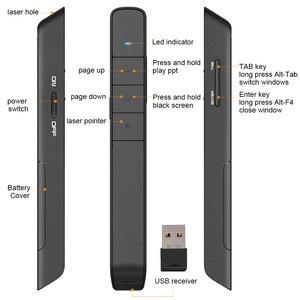 Image 3 - Knorvay N36 2.4GHz אלחוטי מגיש עט USB שלט רחוק Powerpoint מגיש מצגת Clicker PPT מצביע לייזר עט
