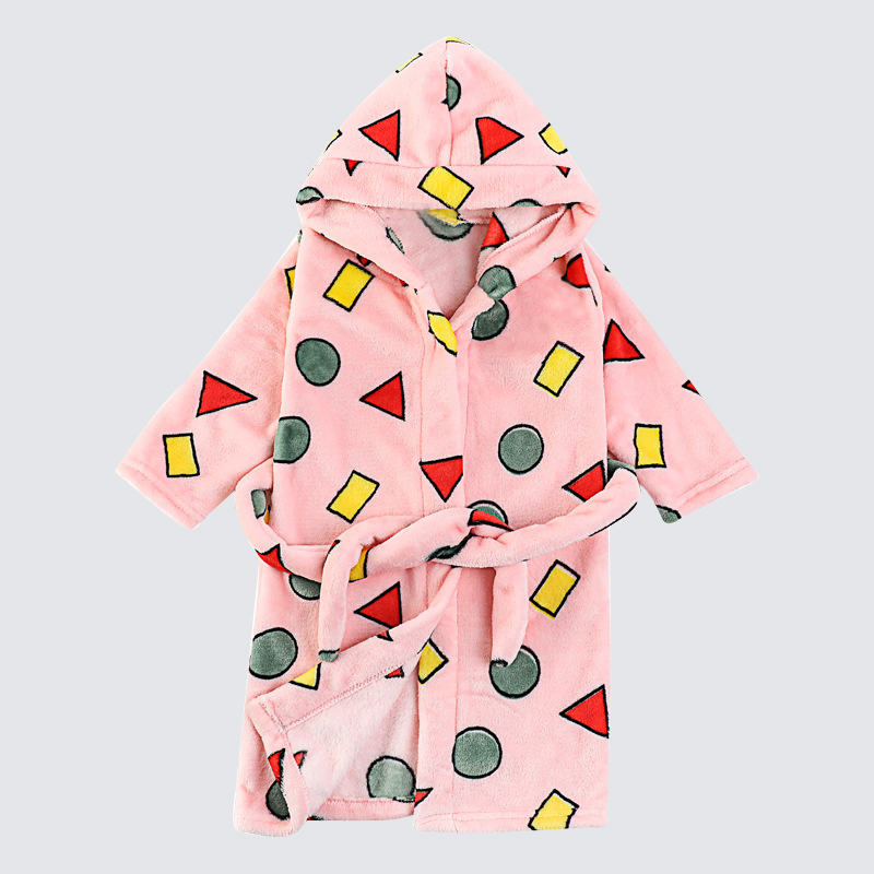 WeLaken/халат с геометрическим принтом для малышей; балахон с капюшоном и длинными рукавами; мягкая хлопковая одежда; детская зимняя одежда для сна; халаты