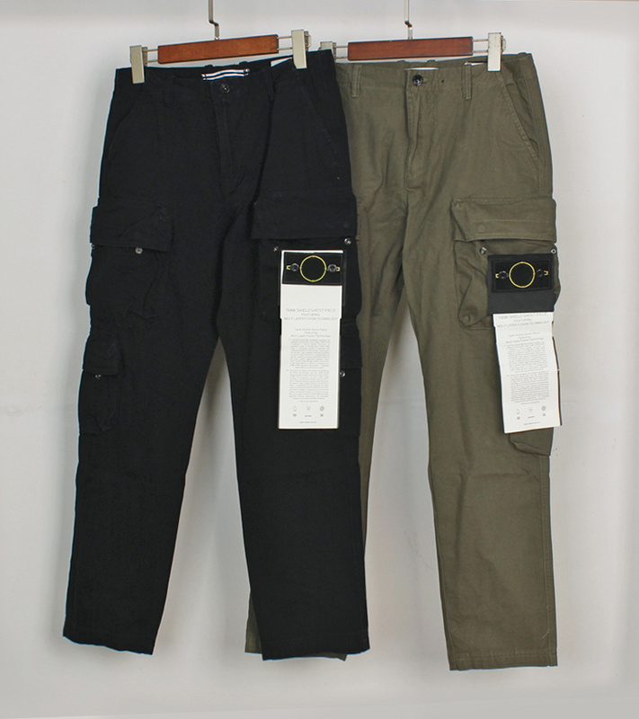 Best Quality Compass Badge Men Multiple Pockets Fatigue Pants Joggers Men Streetwear Casual Pants Trousers