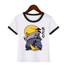 Kids t-shirt Pikachu Samurai Print pokemon jongens tshirts Fashion Pikachu Naruto tops Cool Korte Mouw Casual kinderen Kleding(China)