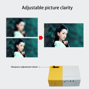 Image 4 - J9 PK Yg 300 מיני מקרן Led HD 1080P עבור AV USB מיקרו SD כרטיס USB מיני בית מקרן נייד מקרן כיס צהוב