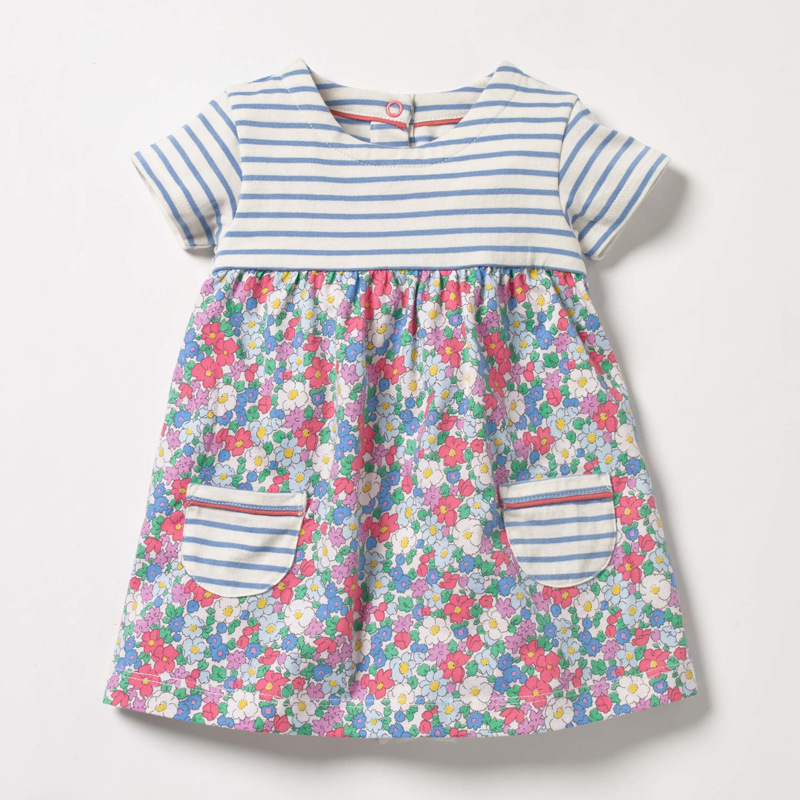 Little maven New Arrvial Girls Dress Apple Applique Girls Princess Party Dresses Toddlers Summer Dress Kids Clothing Dresses 5