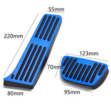 Car Gas Brake Foot Pedal Cover Blue For Toyota RAV4 Rongfang 19-20 Parts Set Kit(China)