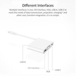 Image 3 - Dla HUAWEI matelock 2 stacja dokująca USB C HUB VGA USB A USB C interfejs HDMI ładowanie transmisji danych dla HUAWEI Mate20 P20