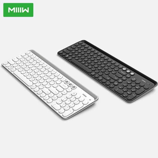 Miiiw Bluetooth Двухрежимная клавиатура 104 клавиши 2,4 ГГц Мультисистема совместимая с Windows PC Mac Беспроводная портативная клавиатура