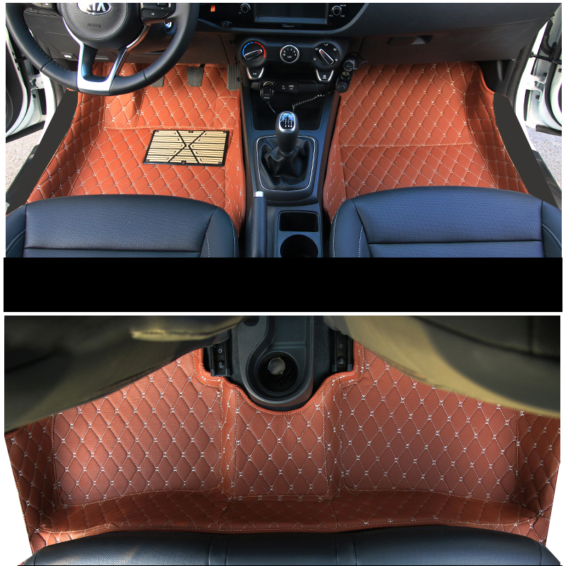 lsrtw2017 car styling accessories floor mats for <font><b>kia</b></font> <font><b>rio</b></font> 3 2 4 2020 2019 2018 2017 2016 2015 2014 2013 2012 <font><b>2011</b></font> 2010 2009 2008 image