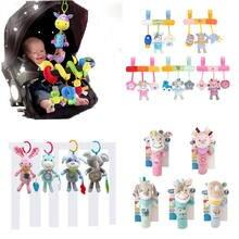 赤ちゃんのおもちゃ動物ぬいぐるみベビー音楽ガラガラ携帯おもちゃベル幼児ベビーカーベッド新生児のおもちゃ 0 12 ヶ月