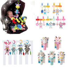 Baby Toys Animal Plush Baby Music Rattles Mobile Toys Bell for Toddlers Hanging Stroller Bed Newborn Toys 0 12 Months