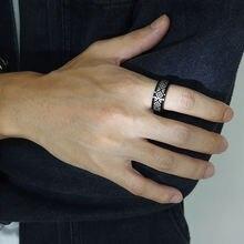 8 мм Спиннер кольца для мужчин этнический индийский символ Выгравированный