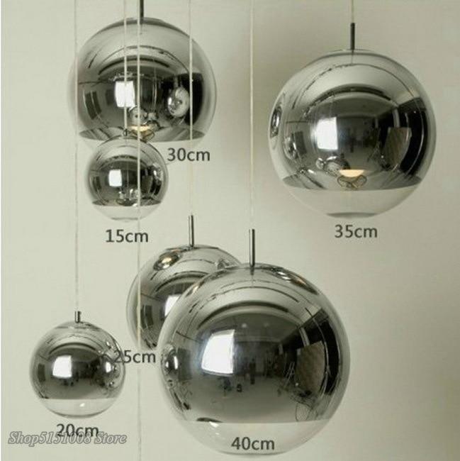 Nordic Led Pendant Light Modern Creative Glass Ball Pendant Lamp Bar Bedroom Bedside Living Room Hanging Lamp Home Decor Fixture