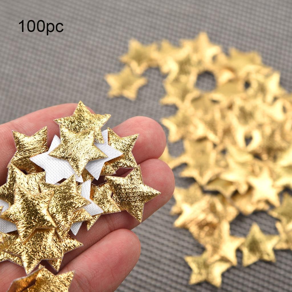100pc Gold Silver Cloth Christmas Five-pointed Star Confetti Home Decoration Accessori  декор для дома