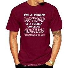 Proud Boyfriend Of Gorgeous Girlfriend Valentines Mens Gift T-Shirt Size S-XXL