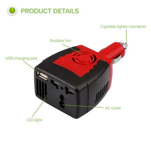 Image 3 - Powstro 150W USB Car Charger Power Inverter Converter DC 12V to AC 220V Modified Sine Wave Power with USB 5V Output