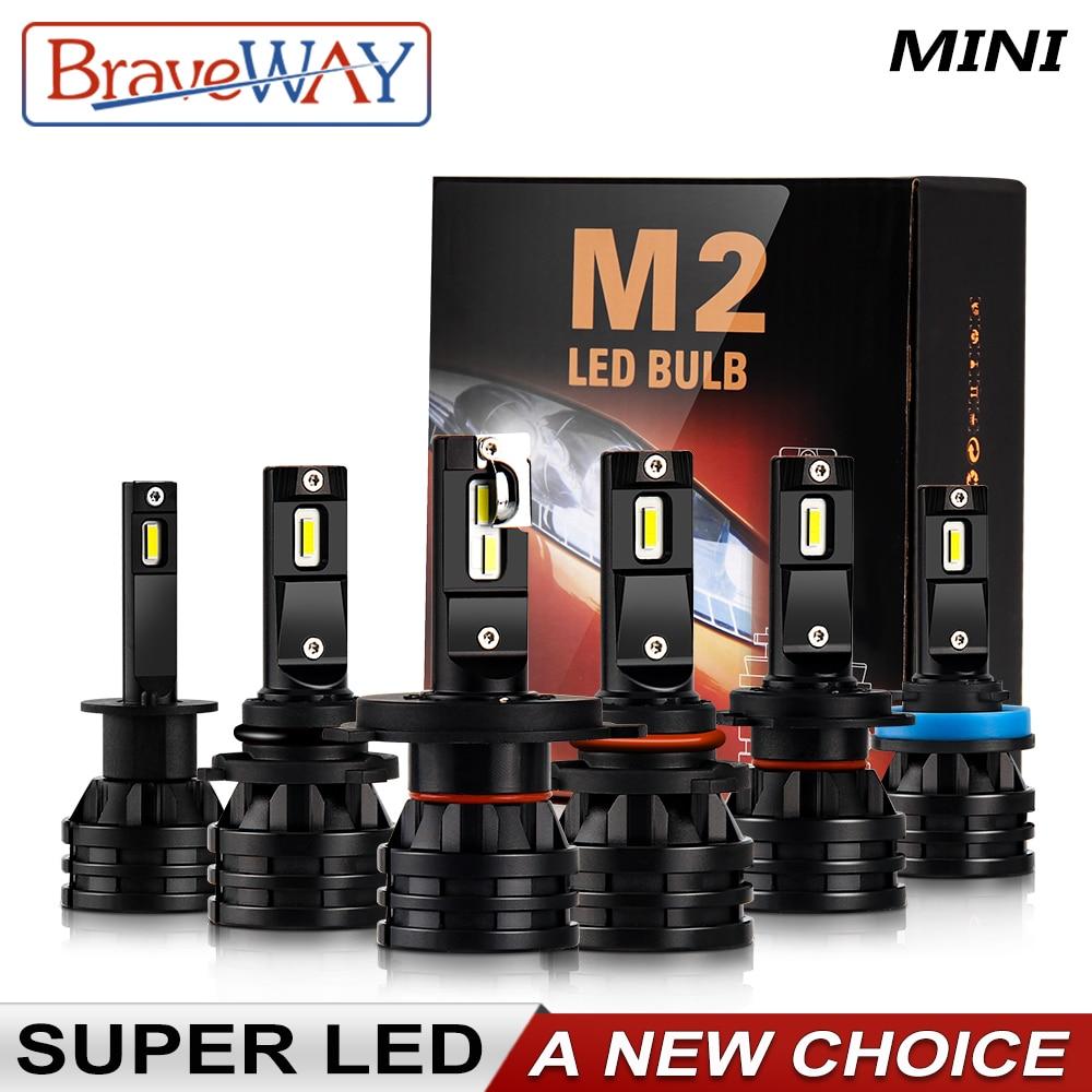 BraveWay 1PCS 16000LM Car LED H1 H4 H7 H11 Moto Bulb 12V Auto H4 LED Motorcycle HeadLight H7 HB3 HB4 9005 9006 H8 H11 Fog Lamp