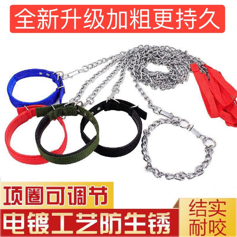 Small Large Breed Dogs And Cats Hand Holding Rope Pendant Dog Chain Stainless Steel Pendant Tied Dog Golden Retriever Teddy Meta