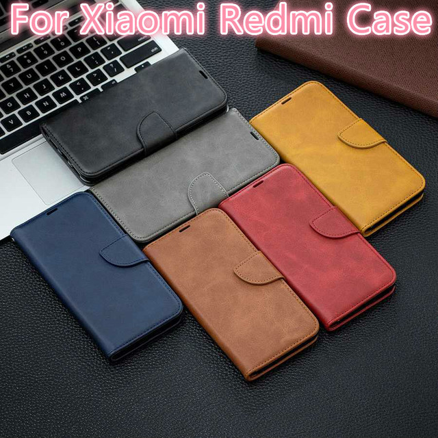 Sheepskin Leather Case For Xiaomi Redmi Note 8T 7 6 5 4 10 Pro 4X 8A 7A 6A 5A 5 Plus K20 Pro Pocophone F1 Flip Stand Wallet Case