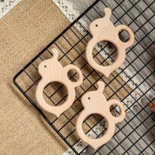 10pc Baby Wooden Teether Beech Bee Pacifier Teeth Pendant Wooden Baby