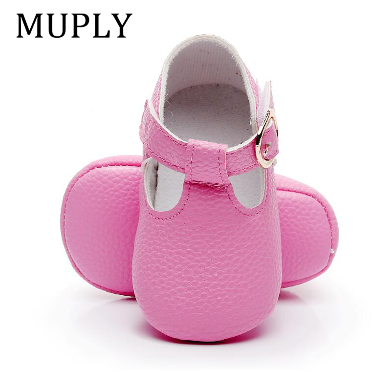 2020 New Arrival Newborn Baby Shoes PU Leather Baby Girl Shoes Soft Sole First Walker Princess Shoes For 0-18M