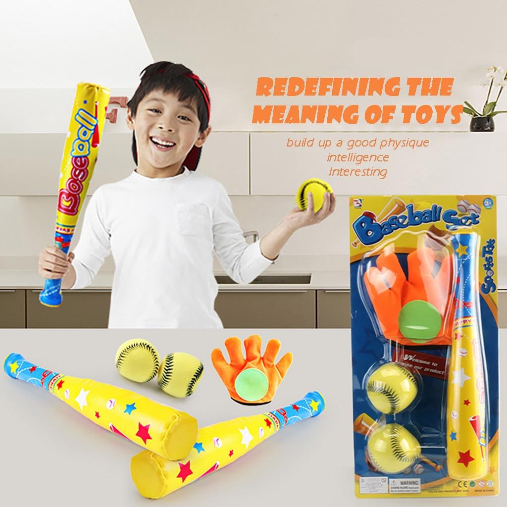 4pc Children's Baseball Set High Quality 4pcs Handmade Baseballs PVC Sports Toys Children Sports Ball Training Exercise Set#g30