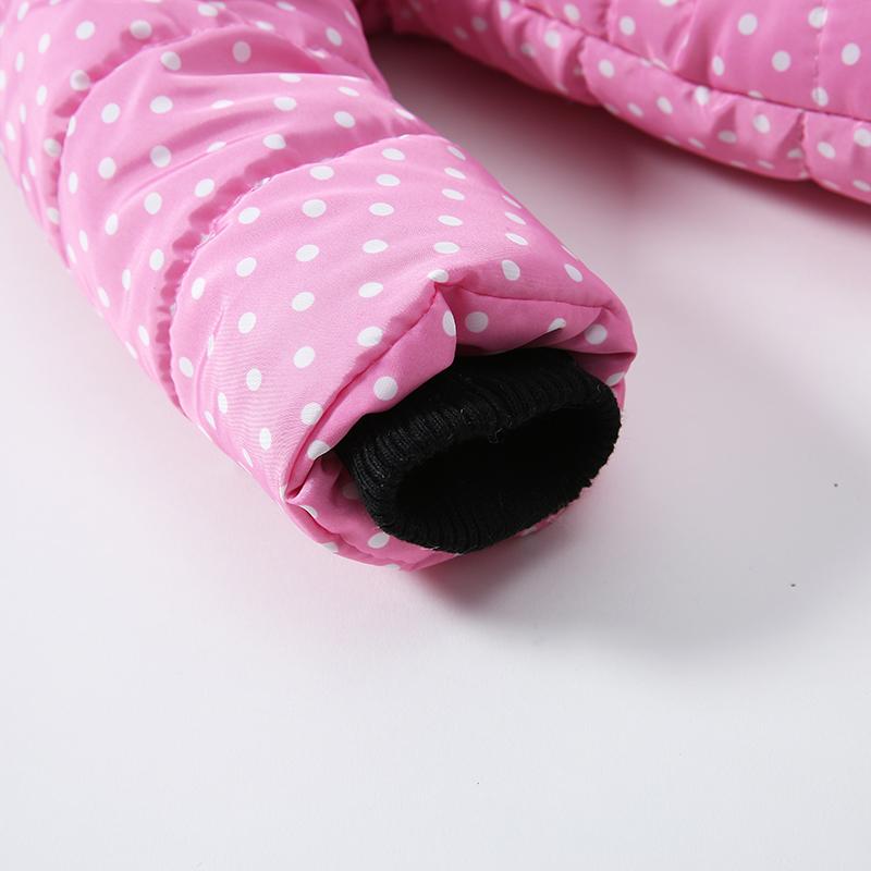 8 Bibihou Winter Coats Kids Clothes Children Clothing Cotton Girl Coat Jacket Fashion Warm Outerwear Jackets For Girls Minnie dot
