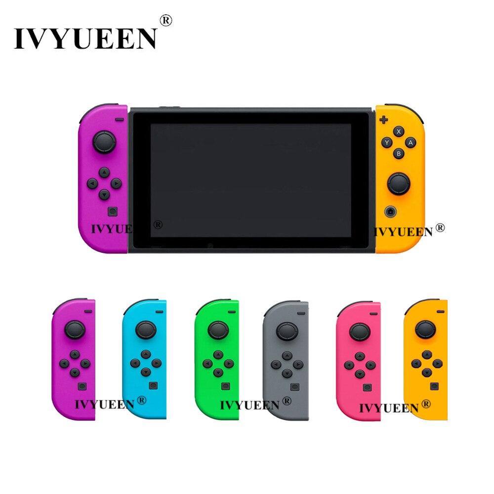 Carcasa de repuesto IVYUEEN verde púrpura para Nintendo Switch Joy-Con para NS JoyCon Cover para NX Joy Con Controller Case