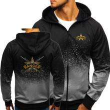 U.S. Army Rangers print Autumn Men Hoodies Zipper Gradient Sweatshirt Streetwear Jacket Mens hooded Tracksuit Slim Fitness Outwe(China)