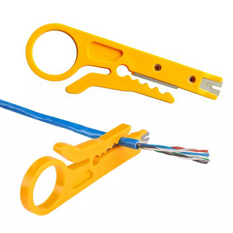 1pcs Stripping Wire Cutter Portable Wire Stripper Knife Crimper Pliers Crimping Tool Cut Line Pocket Multitool Electrician tools(China)