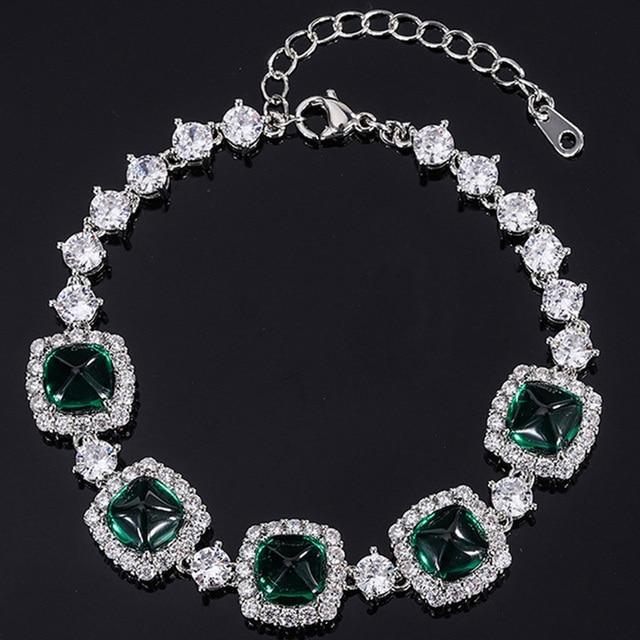 Shipei 100% 925 Sterling Silver Emerald Ruby Sapphire Created Moissanite Gemstone Fine Jewelry Bohemian Charm Bracelets Bangle 6